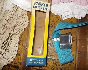 Vintage Parker Safety Belt Powder Blue Seat Belt