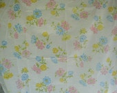 Very Vintage Bed Sheet, Full-Double Bed Size, Fitted Bed Sheet, Cute Floral Print, Pastel Colors, Vintage Unused