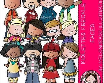 Kidlettes clip art - Freckle Faces