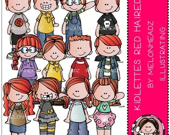 Kidlettes clip art - Red Haired - Combo Pack