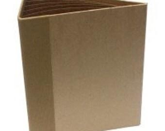 "HEARTFELT Creations ~  3D Flip Fold Album - 7"" x 9"" ~  KRAFT  ~ Heavy Weight Chipboard ~"
