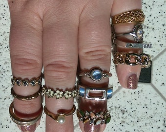 Destash Lot of Ring for Reuse Upcycle or Wear Ships Free
