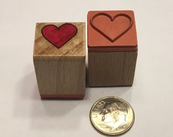 small heart rubber stamp, 16 mm (SB1)