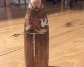 Saint Francis of Assisi Wood Figure Made to Order