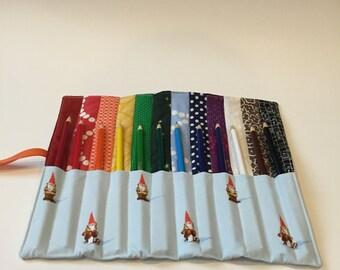 Gnome Colored Pencil Roll
