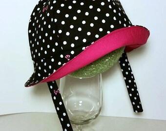 Girl Sun Hat, Baby Sun Hat, Baby Girl Hat, Sun Hat, Pink Hat, Polka Dots