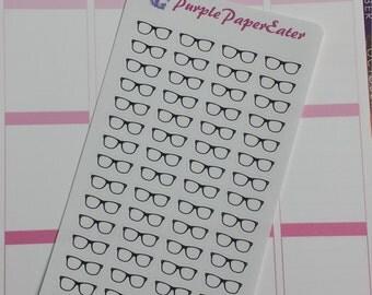 Eye Glasses planner stickers