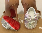 Baby red bottom shoes