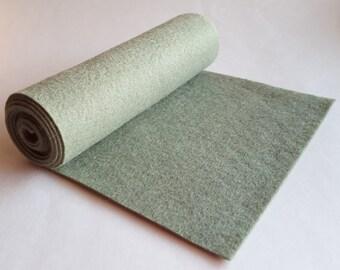 SALE 5x36 Loden Wool Blend Felt Roll