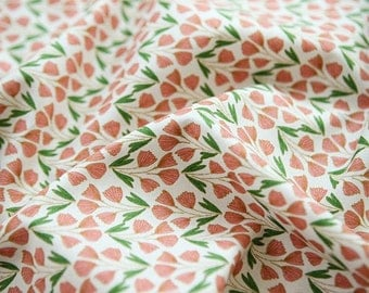 Spring Flowers Cotton Fabric, Floral Fabric - Fabric By the Yard 78346