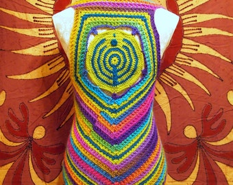 Rainbow Bassnectar vest, lace-up festival top