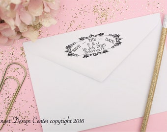 Personalized Self Inking Return Address Stamp, save the date stamp, wedding stamp