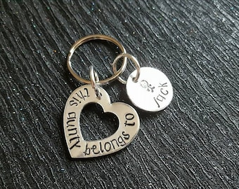 """Handstamped """"this aunty belongs to"""" keyring - Auntie - Aunty - Gift"""