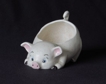 Playful Pig Scrubbie Holder - Planter - Ring Dish - for Kitchen Sink