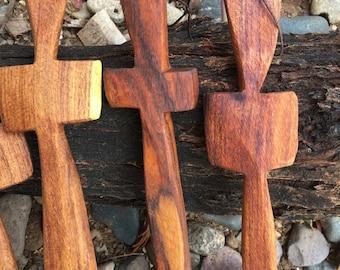 Handcrafted mesquite wood cross