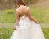 Flower Girl dress, Gold Sequin Flower Girl dress With Tulle, Special Occasion ,floor length girls dress, Wedding Dress, Holiday Dress Girls