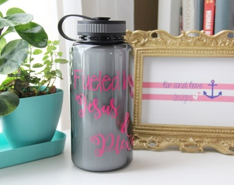 inspirational water bottle - fueled by Jesus and Plexus - plexus water bottle - inspirational water bottle - plexus gear - jesus and plexus