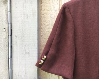 Petite Sophisticate // brown // dress // size 6