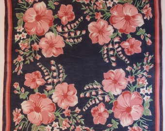 Lovely Vivid Vintage Handkerchief