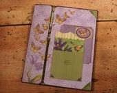 Scrapbook Album for Photos, Handmade, Folio Style, Spring Butterflies