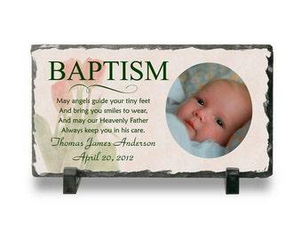 Customized Slate Photo Plaque for Baptisms