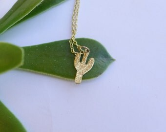 Textured Cactus Necklace