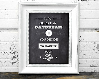 It's Not Just A Dream Motivational Poster - Instant Download Digital Art Print