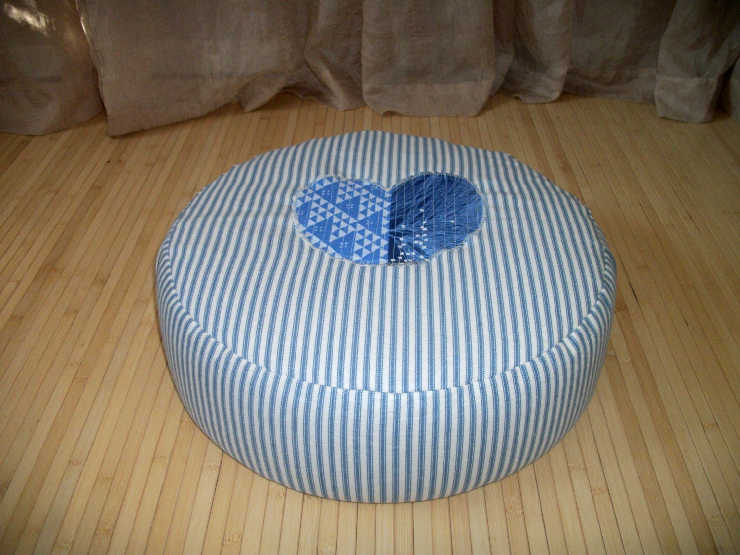 Big Round Floor Cushions : Large Zafu. Round Floor Pillow. Ottoman. UNFILLED COVER Only.