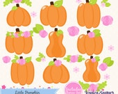 INSTANT DOWNLOAD - Girls Pumpkin Clipart and Little Pumpkin Party Vectors for personal and commercial use