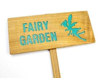 FAIRY GARDEN Sign, Fairy Marker, Yard Art, Whimsical Garden Art, Fairy X-Ing, Garden Fairies, Fairy Garden Marker, Gifts For Girls