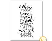 Hope, Faith and Miracles - Print - 8.5x11