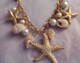 Beach Sweater Guard Pearls Starfish