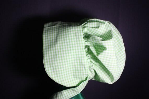 Pioneer Bonnet / Little House Prairie Bonnet / Green By