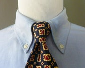 UNIQUE Vintage POLO by Ralph Lauren for Saks Fifth Avenue 100% Silk Framed Paisley Patterned Trad / Ivy League Neck Tie.  Made in USA.