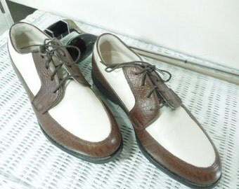 Women's Golf Shoes by FOOTJOY * Europa Collection * Woman's size 8M, Brown and White Leather Golf Shoes