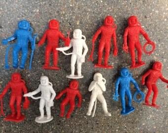Marx Asronauts Space Man Lot Vintage Plastic Toys