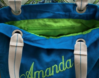 Monogrammed Personalized Bridesmaids bag