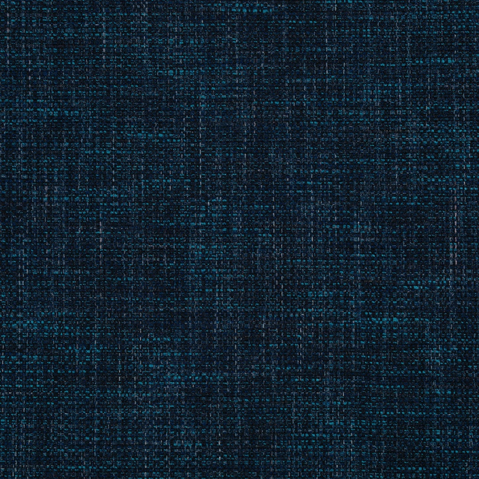 Navy Blue Tweed Upholstery Fabric Bright Blue Woven