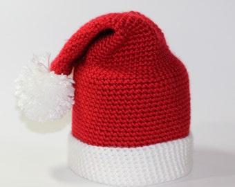 Handmade Crochet Santa Hat Toilet Paper Cover - Spare Roll Holder - Toilet Paper Cozy