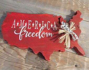 America...Patriotic Decor..4th of July Decor..