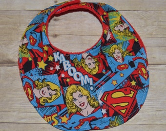 Supergirl Baby Bib