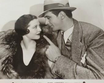 Gary Cooper, Sylvia Sidney, City Streets, 1931, Vintage Original Hollywood Movie Still Promotional Photograph, Ephemera, Collectible