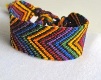 Friendship Bracelet - Chevron - Rainbow - summer
