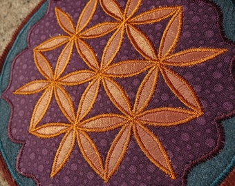Flower of Life Applique Patch