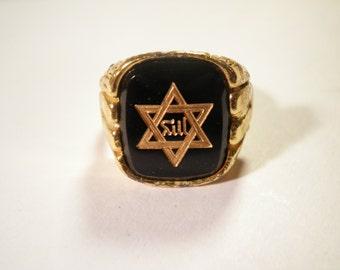 1 Goldplated Star of David Ring