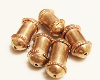 Ethiopian Copper Tube Beads, Unique African Beads, Jewelry Supplies (U105)