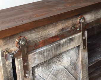 Custom Barn Door Media Console