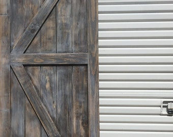 Custom British Brace Barn Door