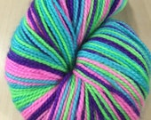 CUSTOM LISTING Brat Pack Self Striping on Harmony Sock for JNBCRAFTY