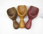 Wood Scoop: Hand Turned Wooden Scoop